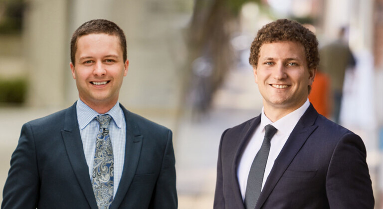 Gordon Behan and Sam Shury, Estates & Trusts, Lawyer and Student